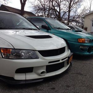 My buddy's subie ~~real car enthusiasts respect~~ 👍👍🔰